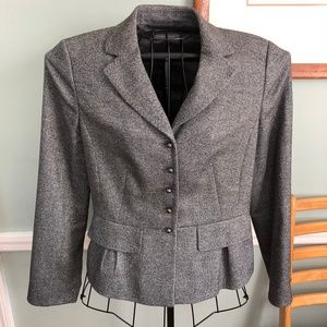 ann taylor fitted tweed jacket